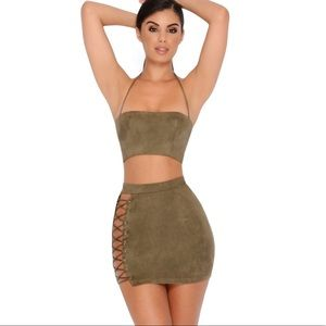 NWT Laced Up 2 Piece